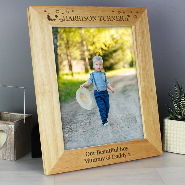Personalised 10x8 Little Stars Wooden Photo Frame from Sassy Bloom Gifts - alternative view