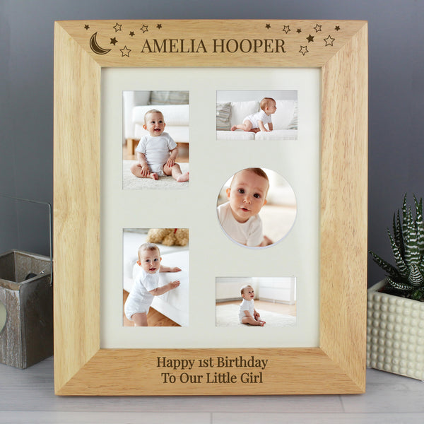 Personalised 10x8 Little Stars Wooden Photo Frame lifestyle image