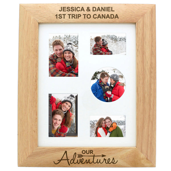 Personalised 10x8 Our Adventures Wooden Photo Frame from Sassy Bloom Gifts - alternative view