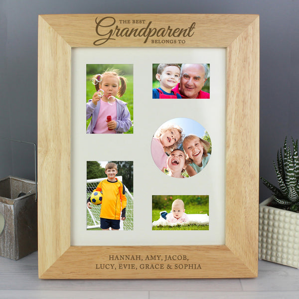 Personalised 'The Best Grandparent' 10x8 Wooden Photo Frame from Sassy Bloom Gifts - alternative view