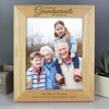 Personalised 'The Best Grandparents' 10x8 Wooden Photo Frame