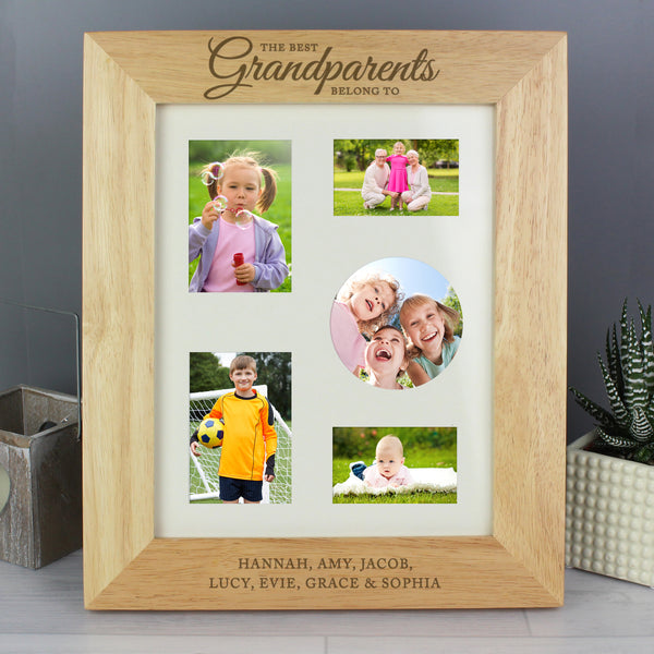 Personalised 'The Best Grandparents' 10x8 Wooden Photo Frame from Sassy Bloom Gifts - alternative view
