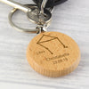 Personalised Libra Zodiac Star Sign Wooden Keyring (September 23rd - October 22nd)