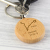Personalised Pisces Zodiac Star Sign Wooden Keyring (February 19th - March 20th)