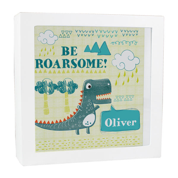 Personalised Dinosaur Fund and Keepsake Box white background