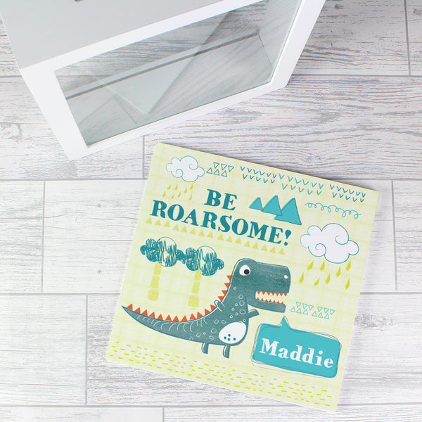 Personalised Dinosaur Fund and Keepsake Box lifestyle image