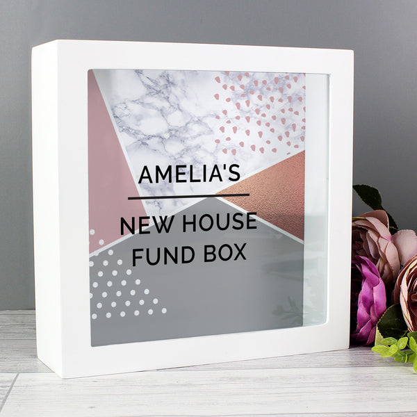Personalised Geometric Fund and Keepsake Box from Sassy Bloom Gifts - alternative view