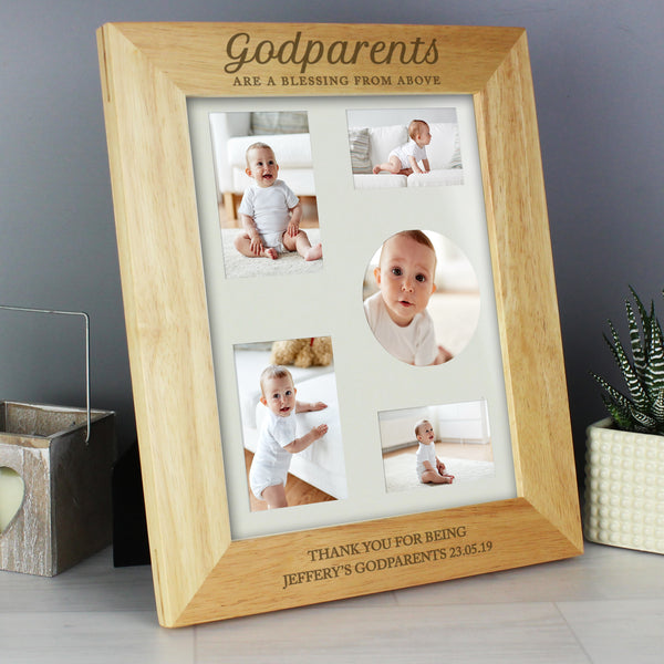 Personalised Godparents Wooden 10x8 Photo Frame from Sassy Bloom Gifts - alternative view