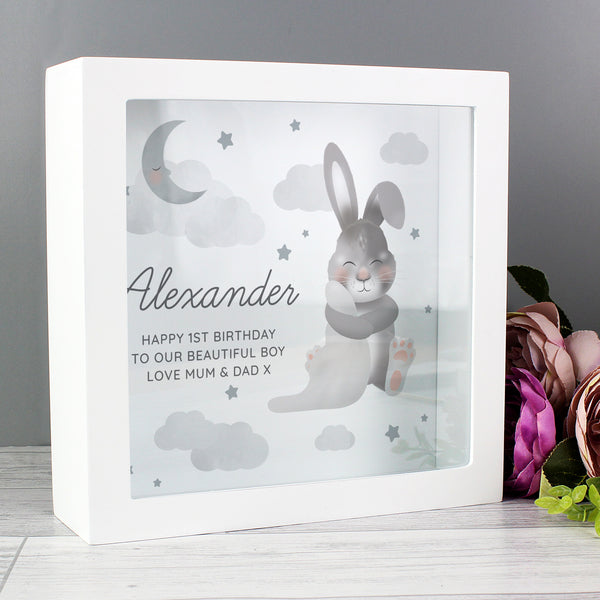 Personalised Baby Bunny Memory Keepsake Box lifestyle image