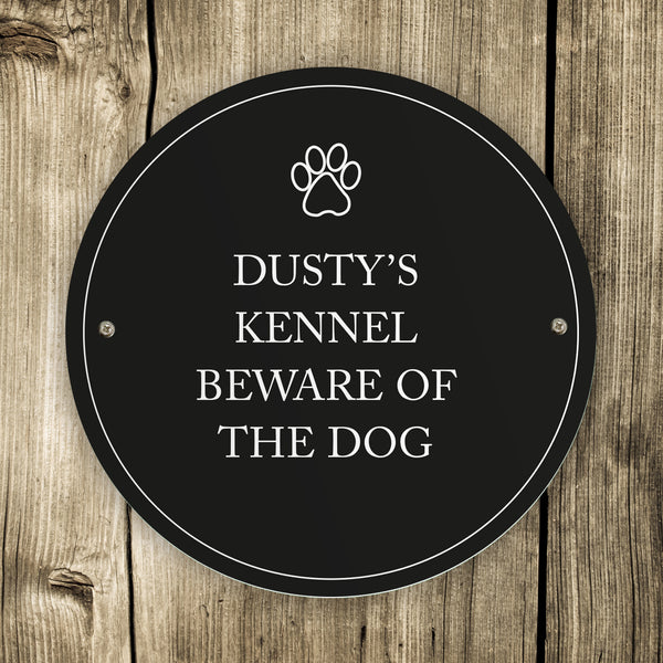 Personalised Paw Prints Pet Sign lifestyle image