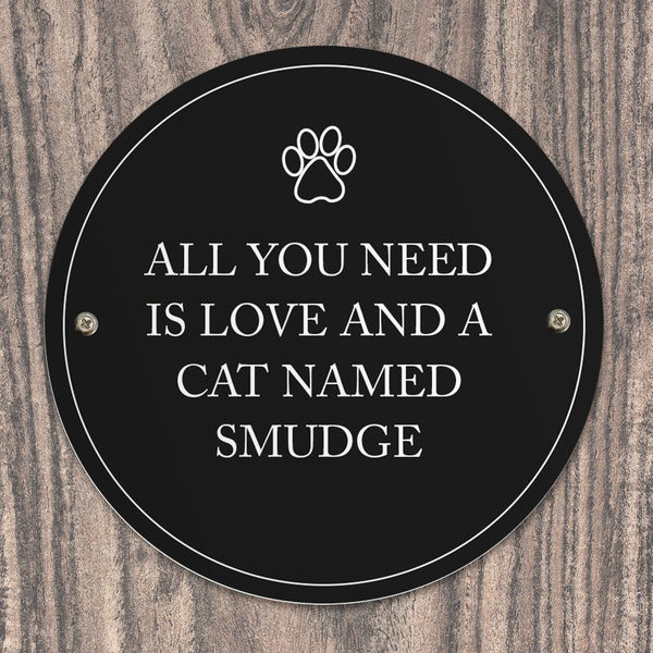 Personalised Paw Prints Pet Sign with personalised name
