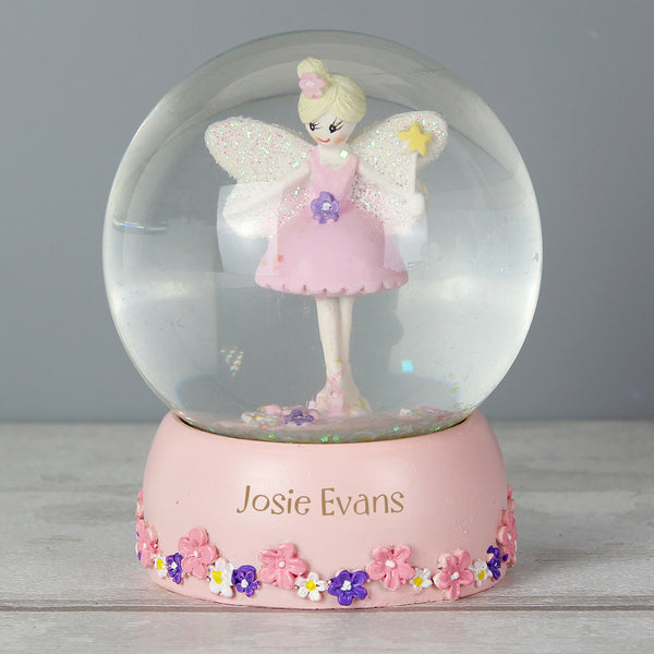 Personalised Fairy Any Name Glitter Snow Globe from Sassy Bloom Gifts - alternative view
