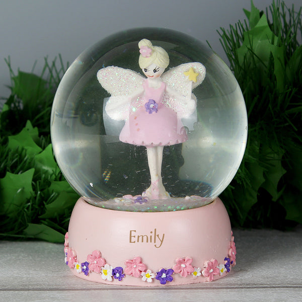 Personalised Fairy Any Name Glitter Snow Globe lifestyle image