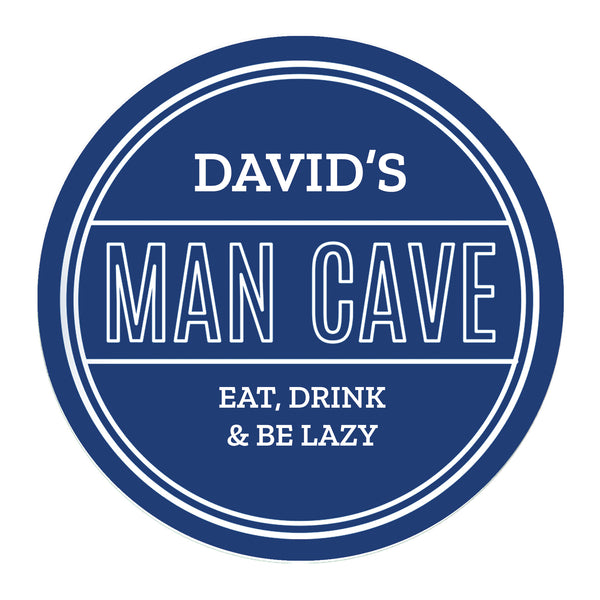 Personalised Man Cave Heritage Plaque white background