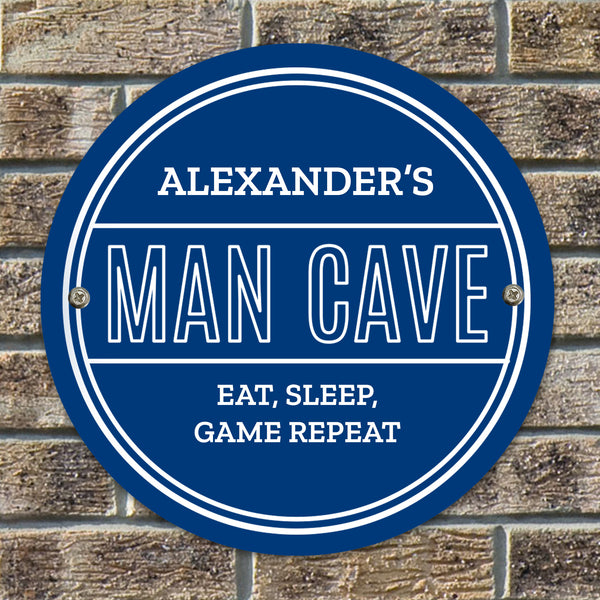 Personalised Man Cave Heritage Plaque from Sassy Bloom Gifts - alternative view