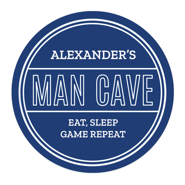 Personalised Man Cave Heritage Plaque lifestyle image