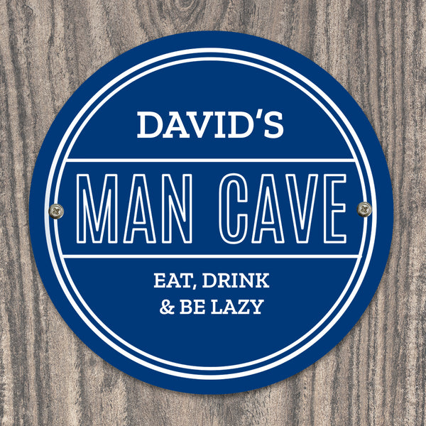 Personalised Man Cave Heritage Plaque with personalised name