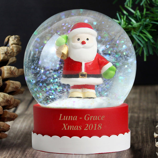 Personalised Santa Snow Globe from Sassy Bloom Gifts - alternative view