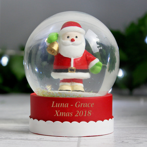 Personalised Santa Snow Globe lifestyle image