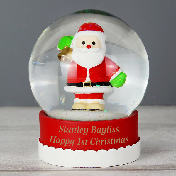 Personalised Santa Snow Globe with personalised name