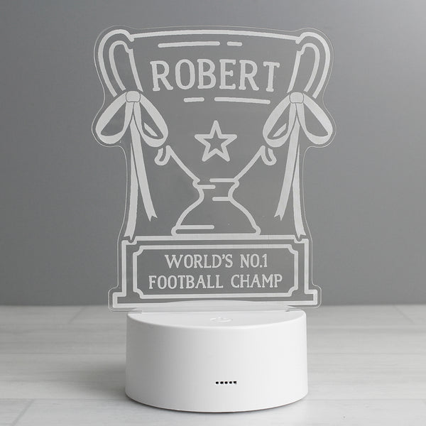 Personalised Trophy LED Colour Changing Night Light from Sassy Bloom Gifts - alternative view
