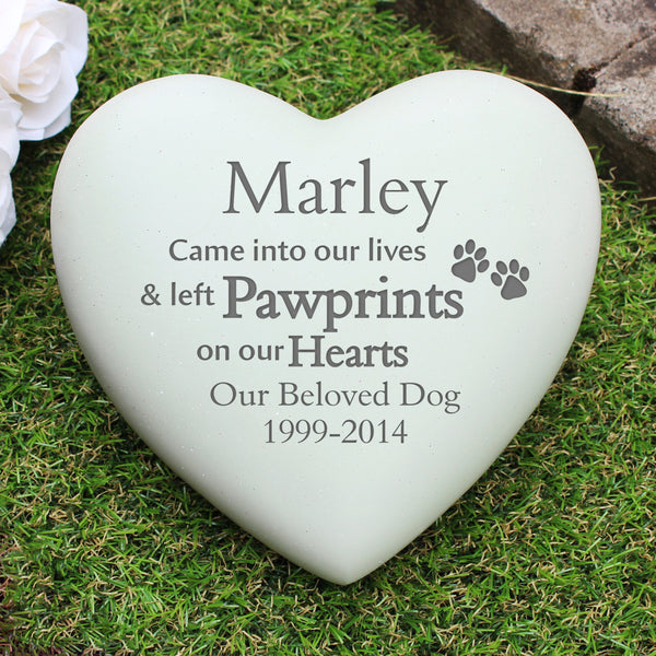 Personalised Pet Pawprints Heart Memorial from Sassy Bloom Gifts - alternative view