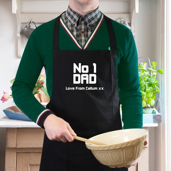 Personalised No1 Dad Apron