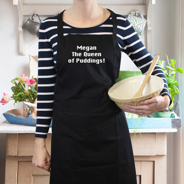 Personalised Black Apron from Sassy Bloom Gifts - alternative view