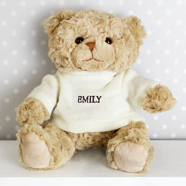 Personalised Name Only Teddy Bear from Sassy Bloom Gifts - alternative view