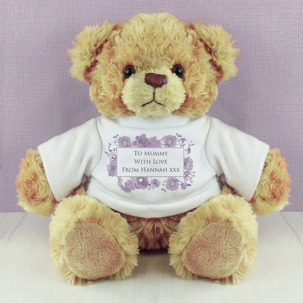 Personalised Soft Watercolour Teddy with personalised name