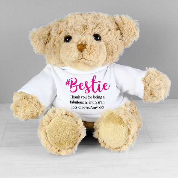 Personalised #Bestie Teddy from Sassy Bloom Gifts - alternative view