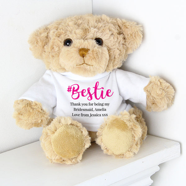 Personalised #Bestie Teddy lifestyle image