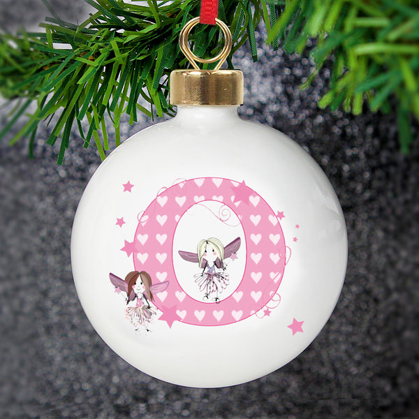 Personalised Fairy Bauble white background