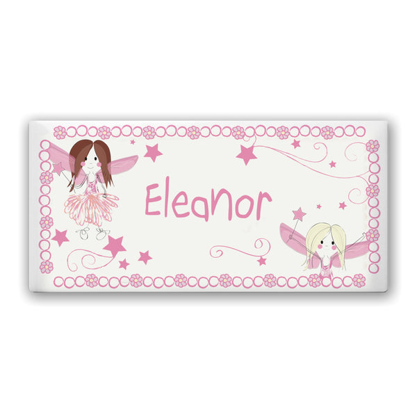 Personalised Fairy Letter Door Plaque white background