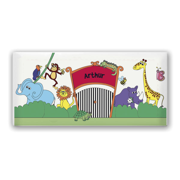 Personalised Zoo Door Plaque white background
