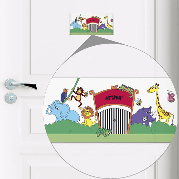 Personalised Zoo Door Plaque