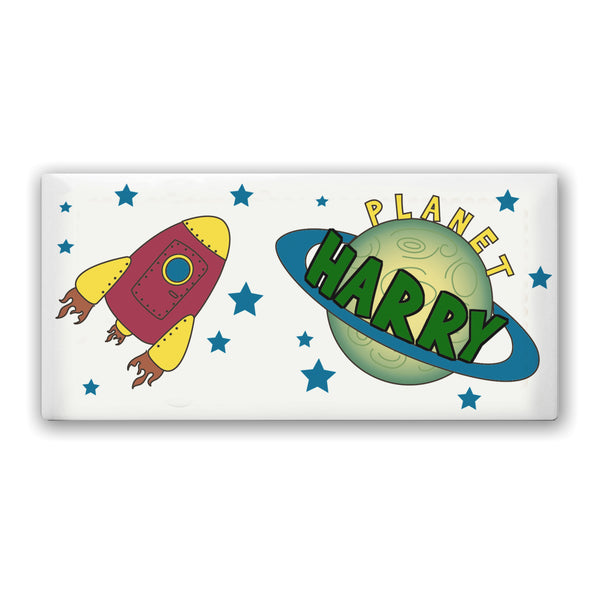 Personalised Space Door Plaque white background