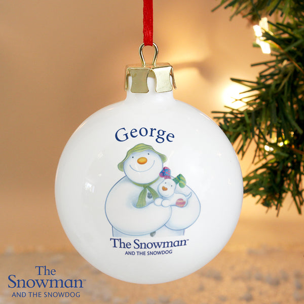 Personalised The Snowman and the Snowdog Bauble from Sassy Bloom Gifts - alternative view
