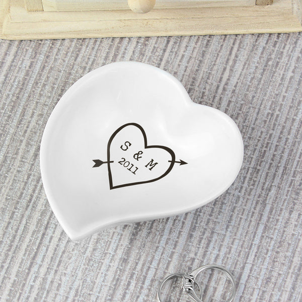 Personalised Wood Carving Ceramic Ring Dish from Sassy Bloom Gifts - alternative view