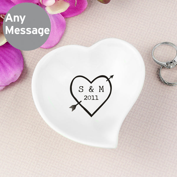 Personalised Wood Carving Ceramic Ring Dish