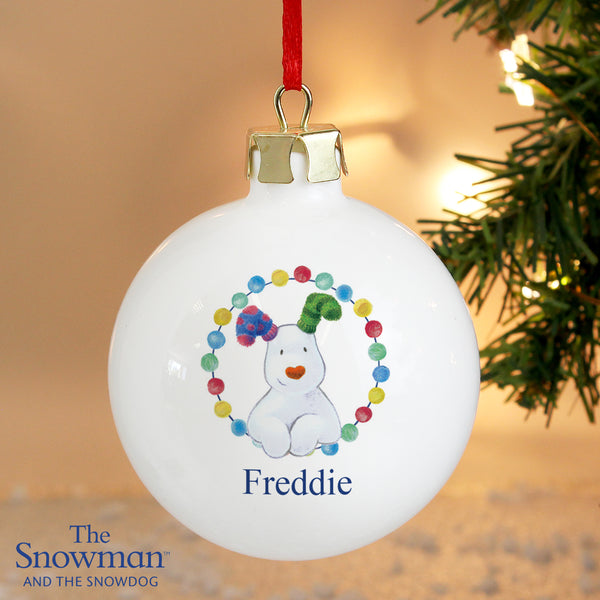 Personalised The Snowdog Bauble from Sassy Bloom Gifts - alternative view