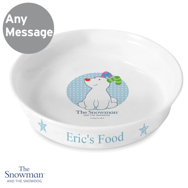 Personalised The Snowdog Blue Dog Bowl lifestyle image