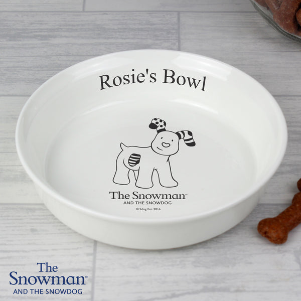 Personalised The Snowdog Pet Bowl from Sassy Bloom Gifts - alternative view