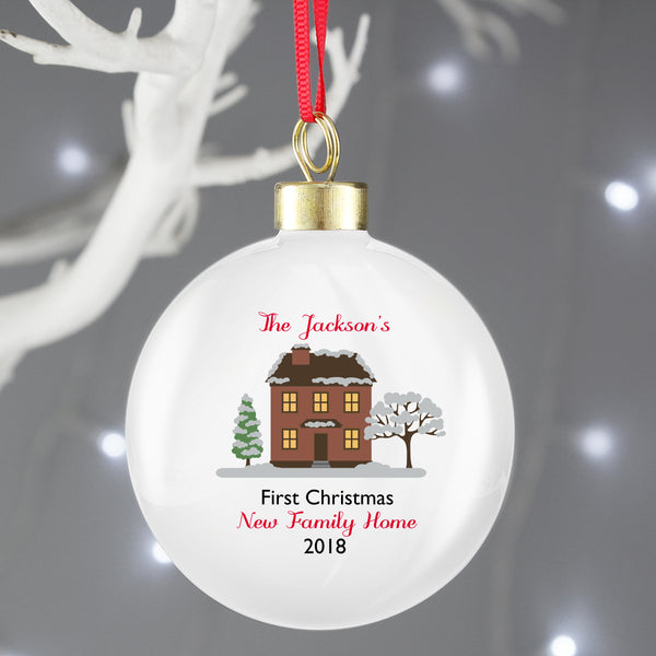 Personalised Cosy Christmas Bauble from Sassy Bloom Gifts - alternative view