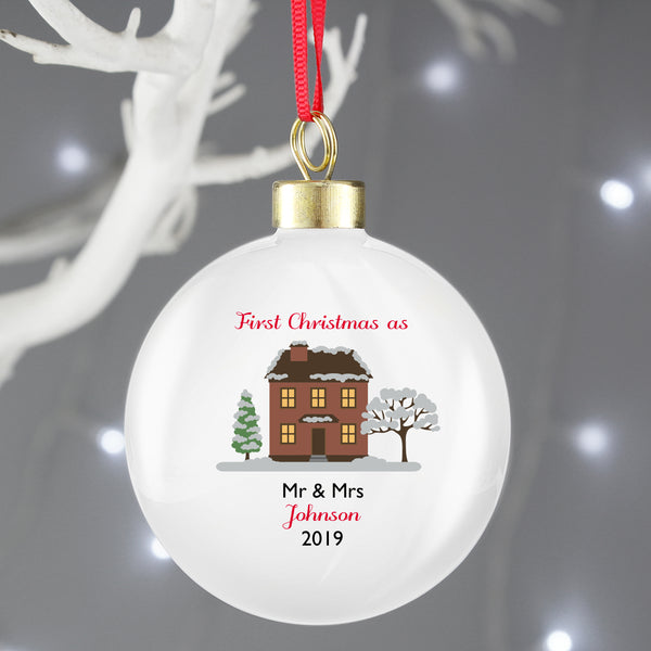 Personalised Cosy Christmas Bauble lifestyle image