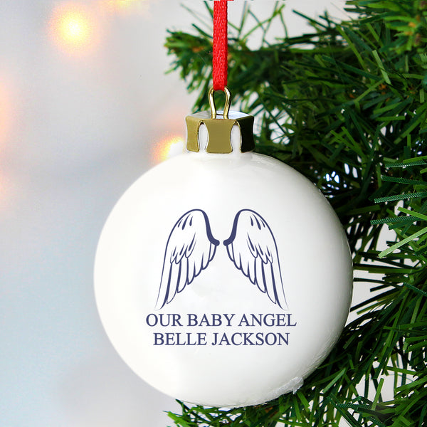 Personalised Angel Wings Bauble lifestyle image