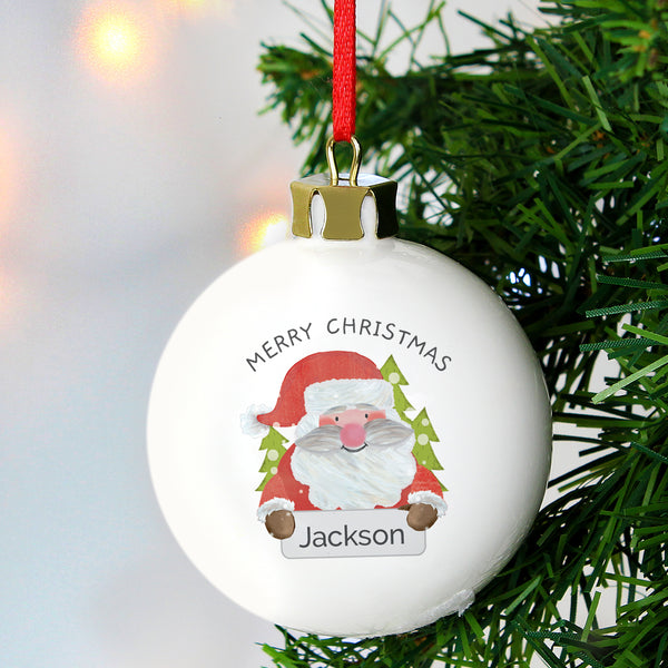Personalised Santa Claus Bauble from Sassy Bloom Gifts - alternative view