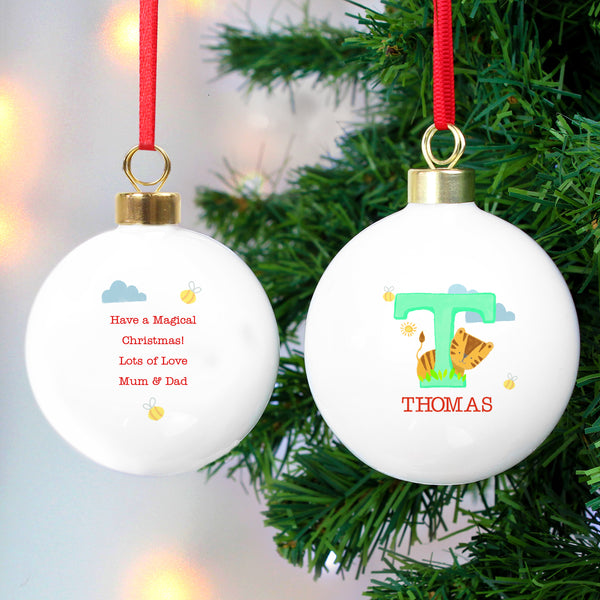 Personalised Animal Alphabet Bauble from Sassy Bloom Gifts - alternative view