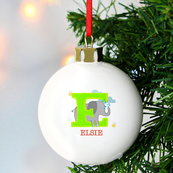 Personalised Animal Alphabet Bauble lifestyle image
