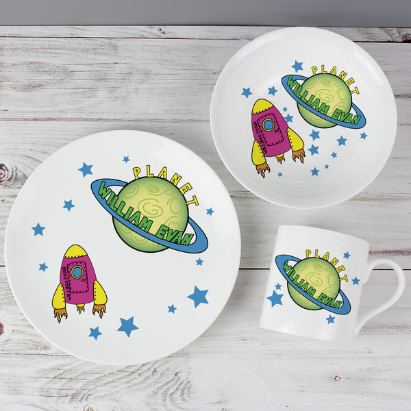Personalised Space Breakfast Set from Sassy Bloom Gifts - alternative view
